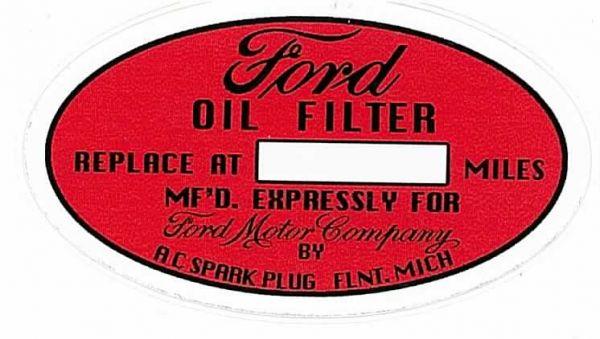 Aufkleber, Ölwechsel mit Beschriftungsfeld, Bj 35-53