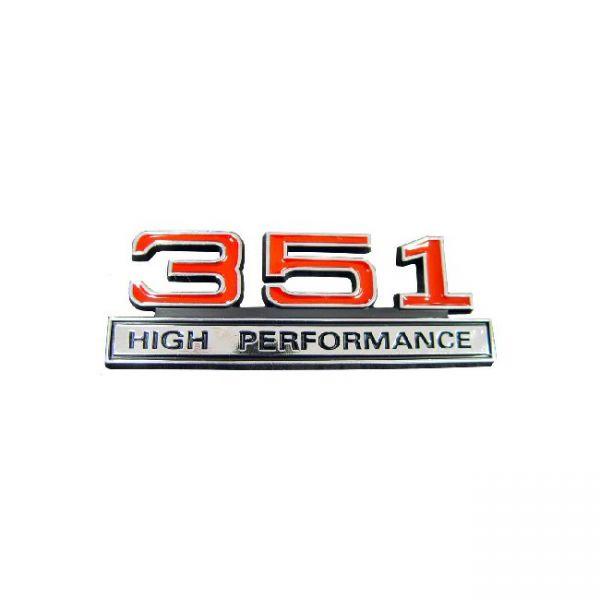 Kotflügelemblem '351 High Performance'