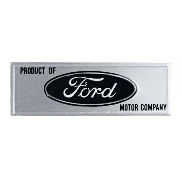 """Emblem, Logo """"Ford"""" in schwarz, Einstiegsleisten, Bj.64-66"""