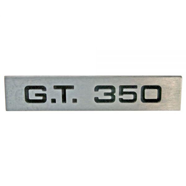 """""""GT350"""" Emblem auf Heckblech, Bj 66"""